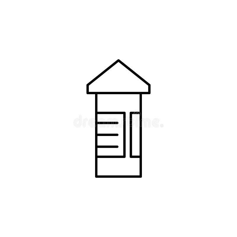 Annoncez l'icône d'ensemble de route de conseil Des signes et les symboles peuvent être employés pour le Web, logo, l'appli mobil illustration de vecteur