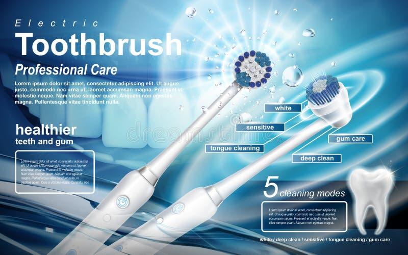 Annons för elektrisk tandborste royaltyfri illustrationer