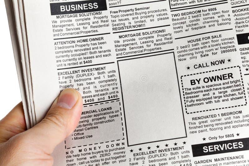 annonsen klassificerade fotografering för bildbyråer