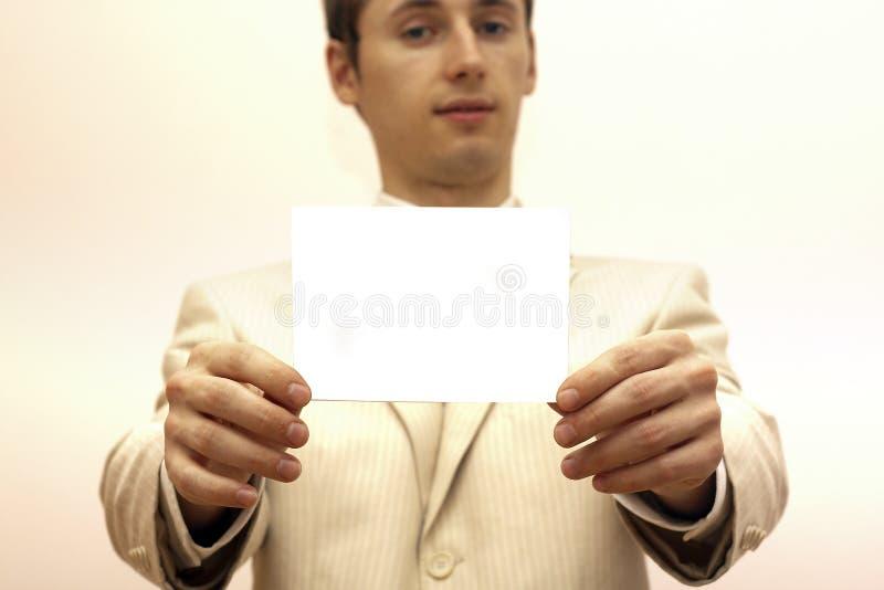 annonsera det blanka kortet fotografering för bildbyråer