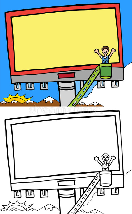 annonsering av affischtavlan vektor illustrationer