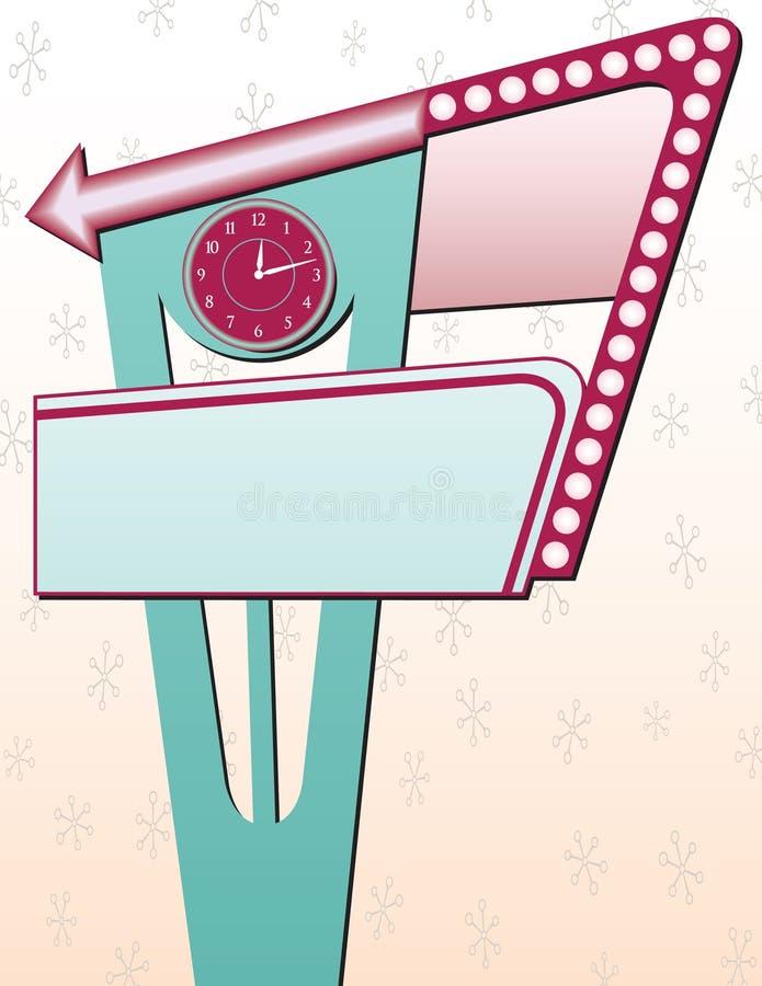 annonsering av det retro tecknet vektor illustrationer