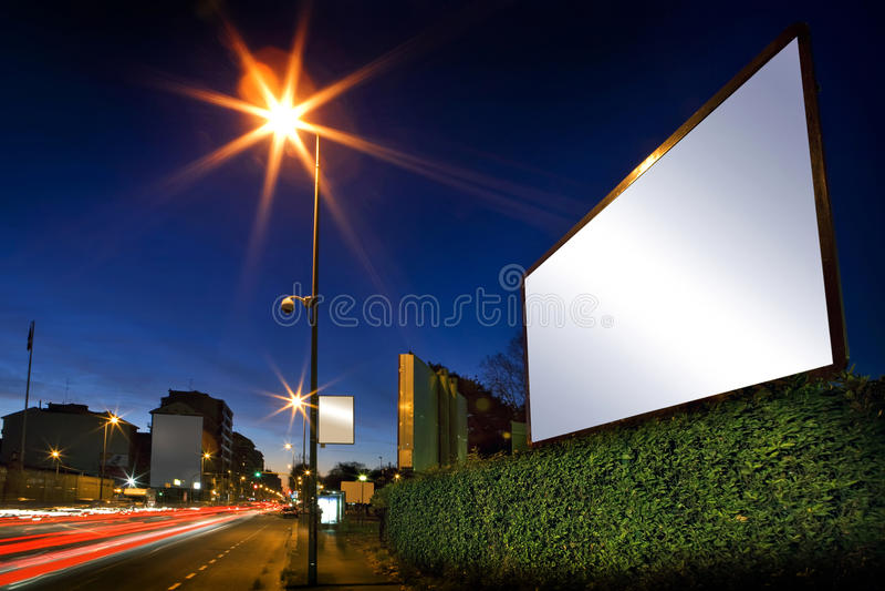 annonsering av skärm arkivfoto