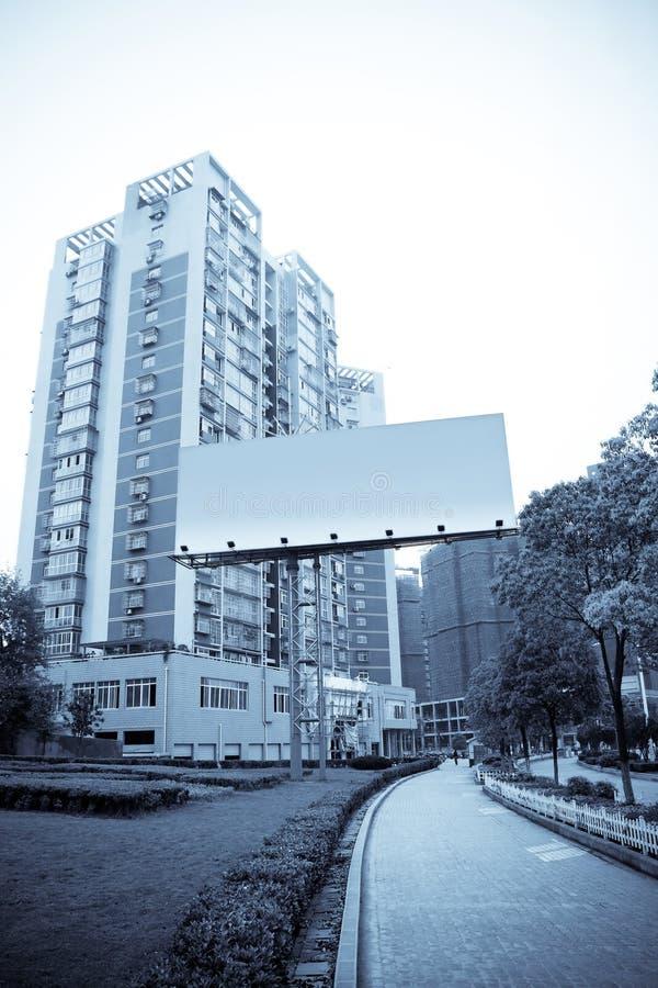 annonsering av staden arkivbild