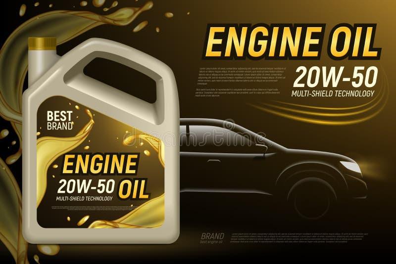 Annonsering för bilmotorolja vektor illustrationer