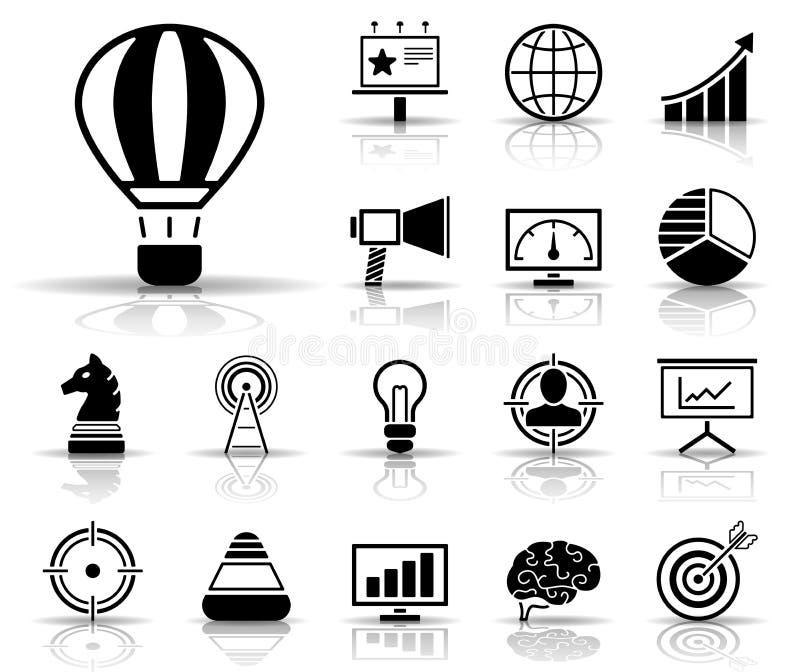 Annonsering & marknadsföring - Iconset - symboler vektor illustrationer