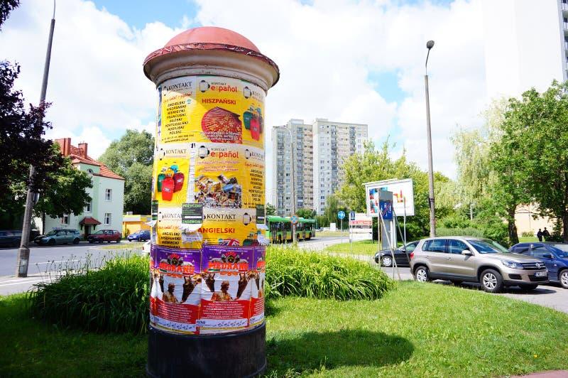 Annonseringcylinder arkivfoto