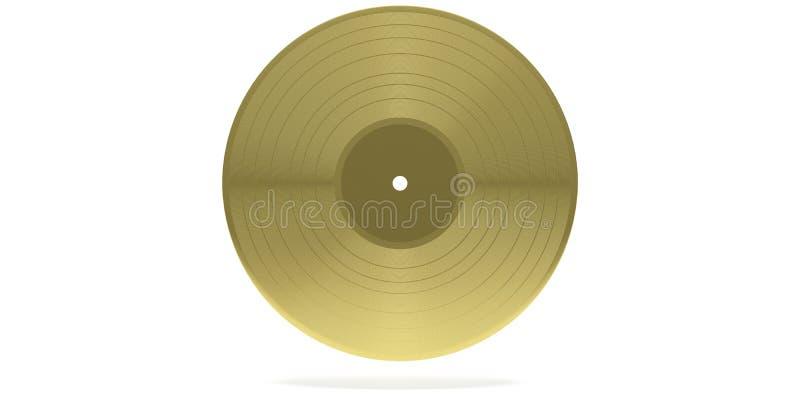 Annotazione di vinile LP isolato, su fondo bianco illustrazione 3D illustrazione di stock