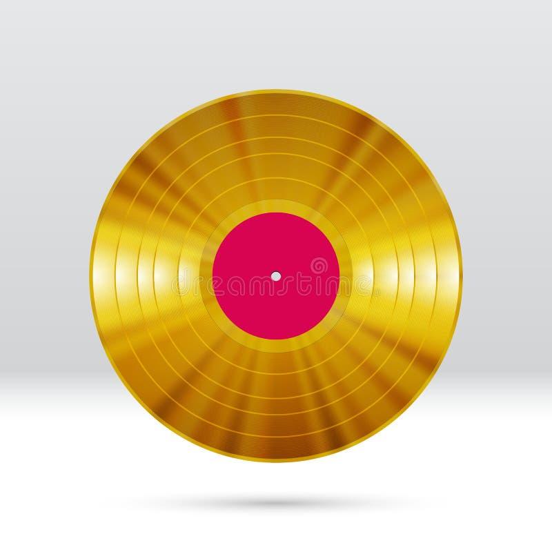 Annotazione a 12 pollici di LP del disco del vinile con le scanalature variopinte, piste brillanti royalty illustrazione gratis