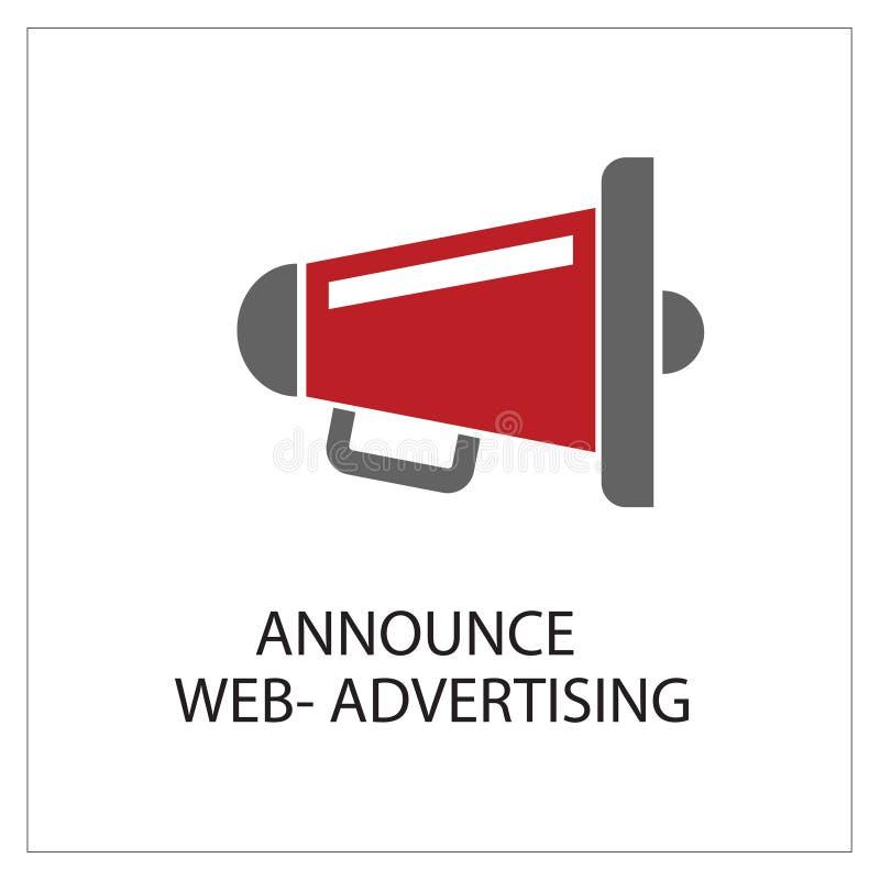 Announce Simpel Logo Icon Vector Ilustratie stock illustratie