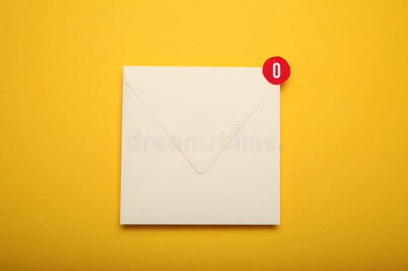 Announcement, address communication chat. Contact mail correspondence. Received message.  stock image
