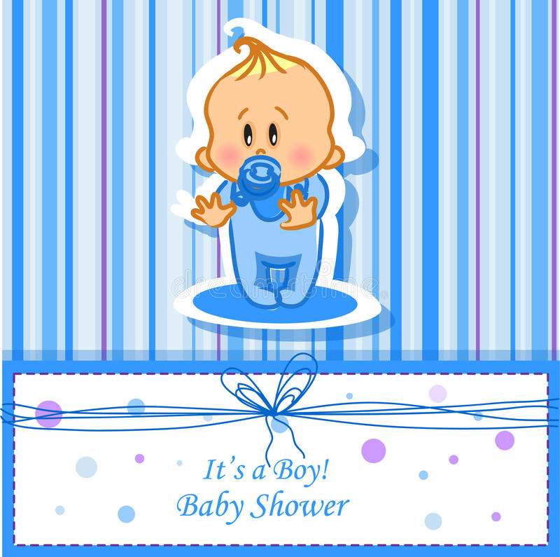 Download Announcement Card With Baby Boy,vector Stock Images - Image: 23593604