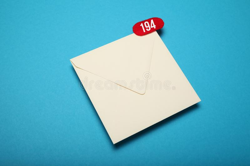 Announcement, communication chat. Deliver email correspondence.  royalty free stock photos