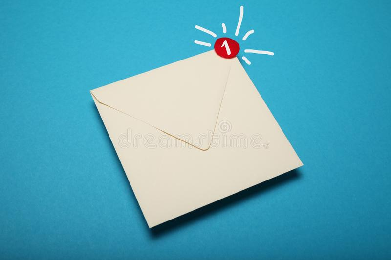 Announcement, communication chat. Deliver email correspondence.  royalty free stock image