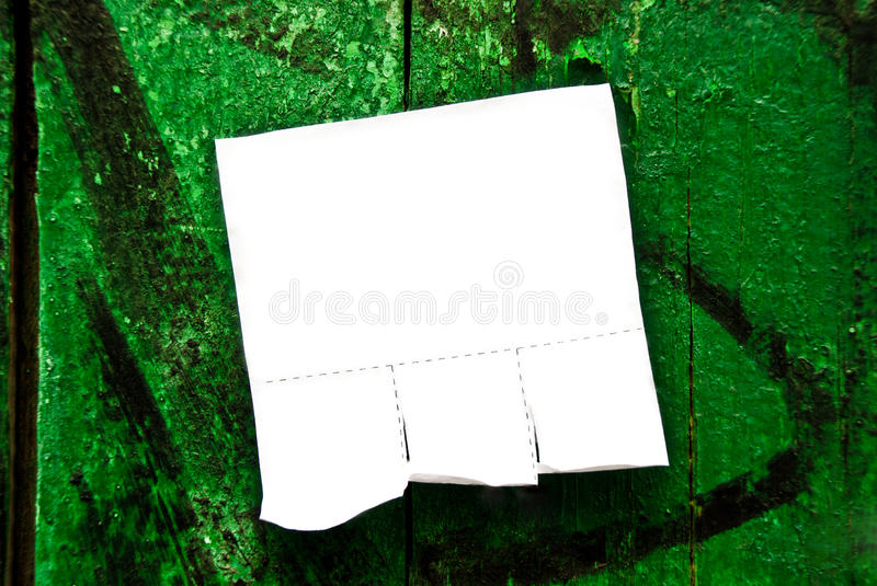 Download Announcement on a fence stock image. Image of nobody - 20518459