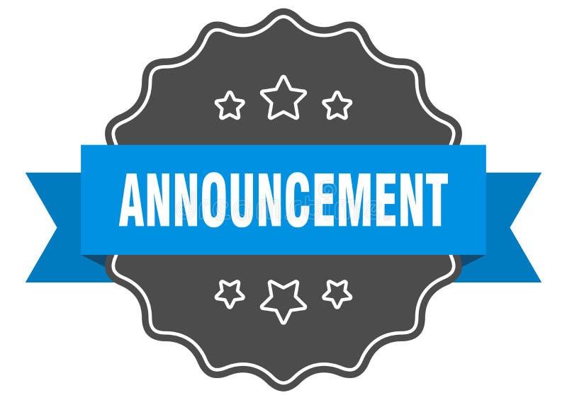 announcement label vector illustration