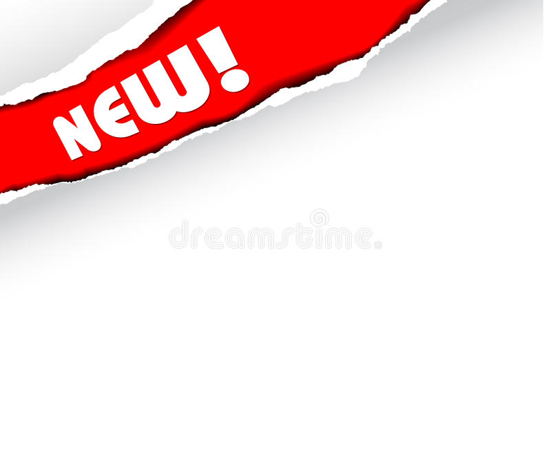 Announcement of new items (red) royalty free illustration