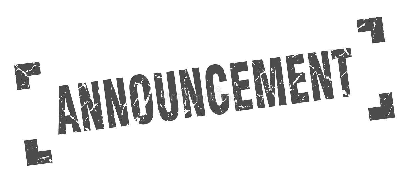 announcement stamp stock illustration