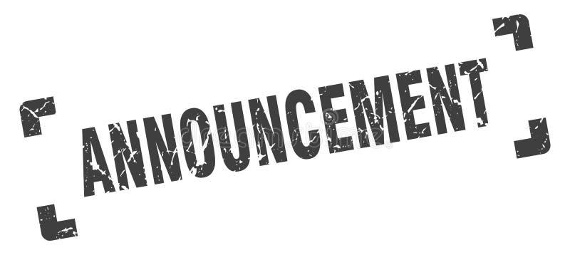announcement stamp vector illustration