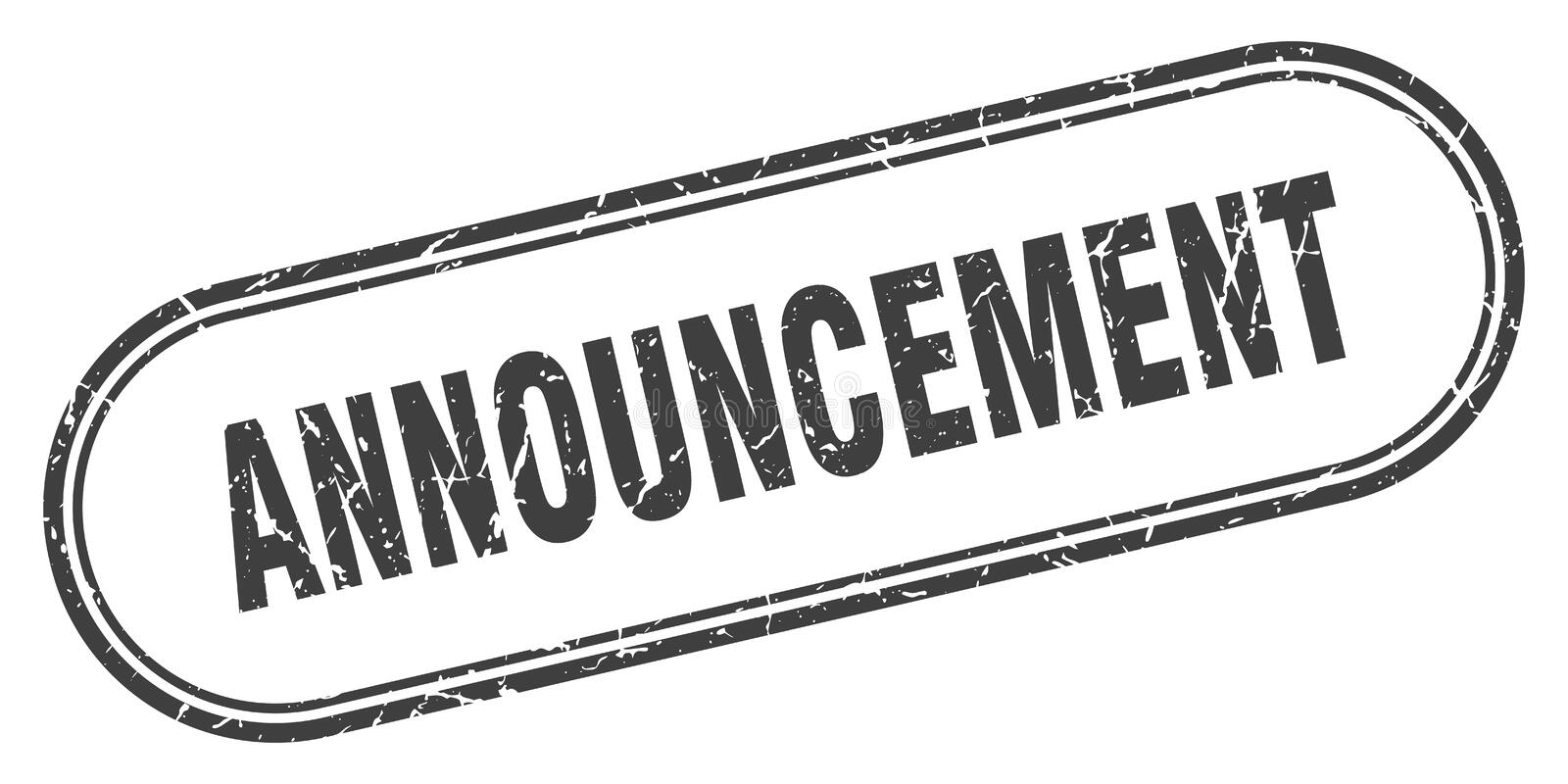announcement stamp royalty free illustration