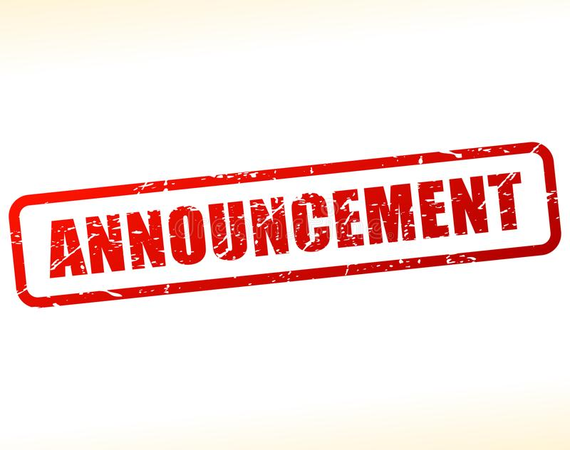 Announcement text stamp stock illustration