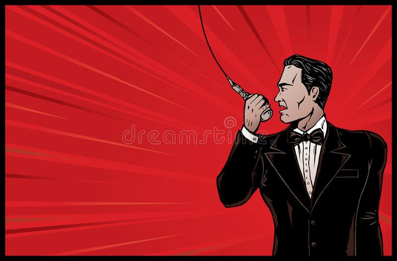 Download Announcer from olden days. stock vector. Illustration of announcement - 6495182