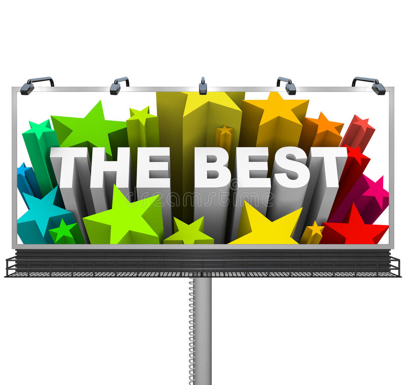 Free Announcing The Best On A Huge Billboard For Top Prize Stock Photos - 31864543