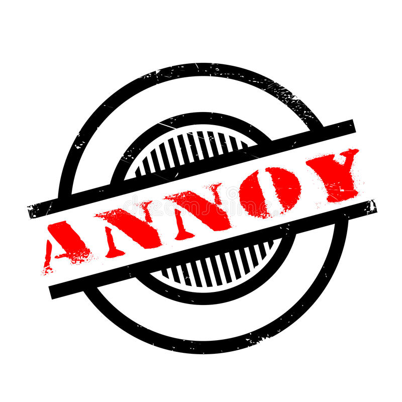Annoy rubber stamp. Grunge design with dust scratches. Effects can be easily removed for a clean, crisp look. Color is easily changed royalty free stock photography