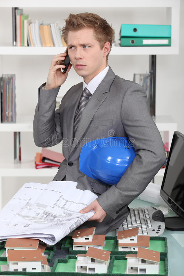 Download An annoyed architect stock image. Image of construction - 28904143