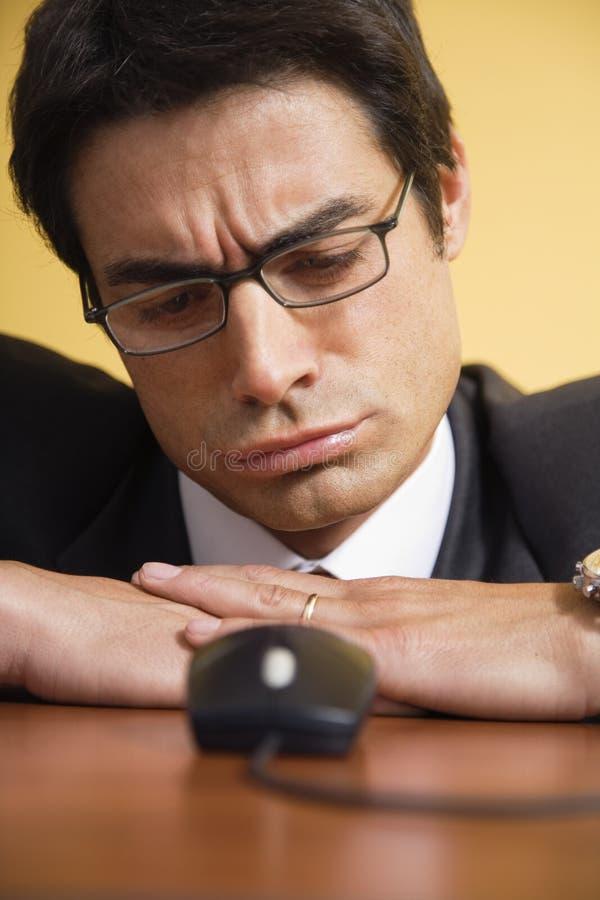 Annoyed businessman stock photos