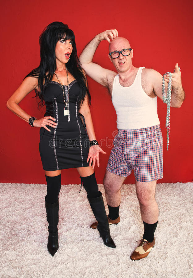 Download Annoyed Dominatrix And Confused Client Stock Photo - Image of adult, fear: 21024192