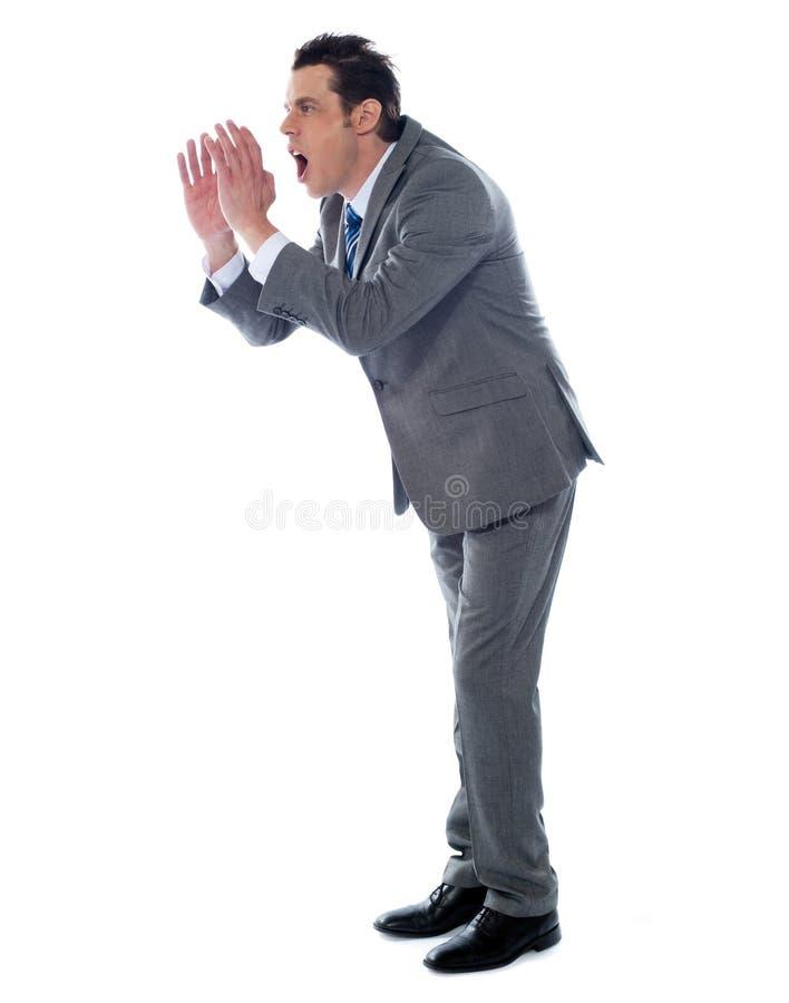 Annoyed Executive Shouting, Isolated Stock Images
