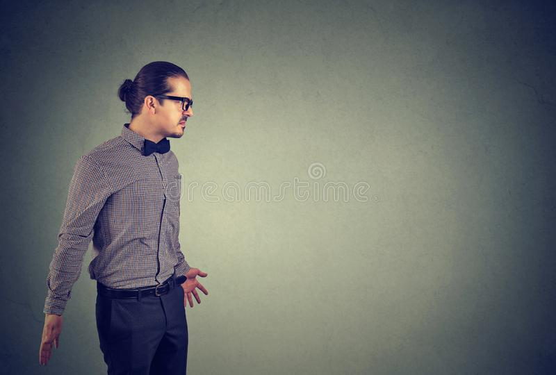 Annoyed frustrated angry young man stock photos