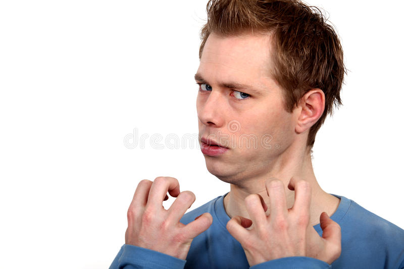 Annoyed man. Needs to let off steam royalty free stock image