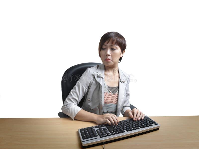 Download Annoyed Office Worker Overlooking Shoulder Stock Image - Image: 24238367