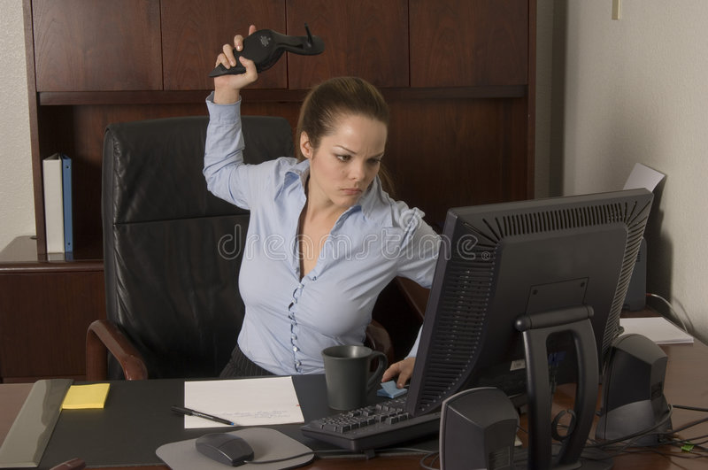 Download Annoying connection stock image. Image of clerk, anger - 542297