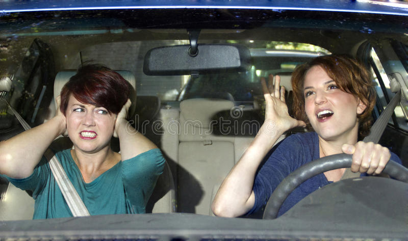 Annoying Driver royalty free stock image