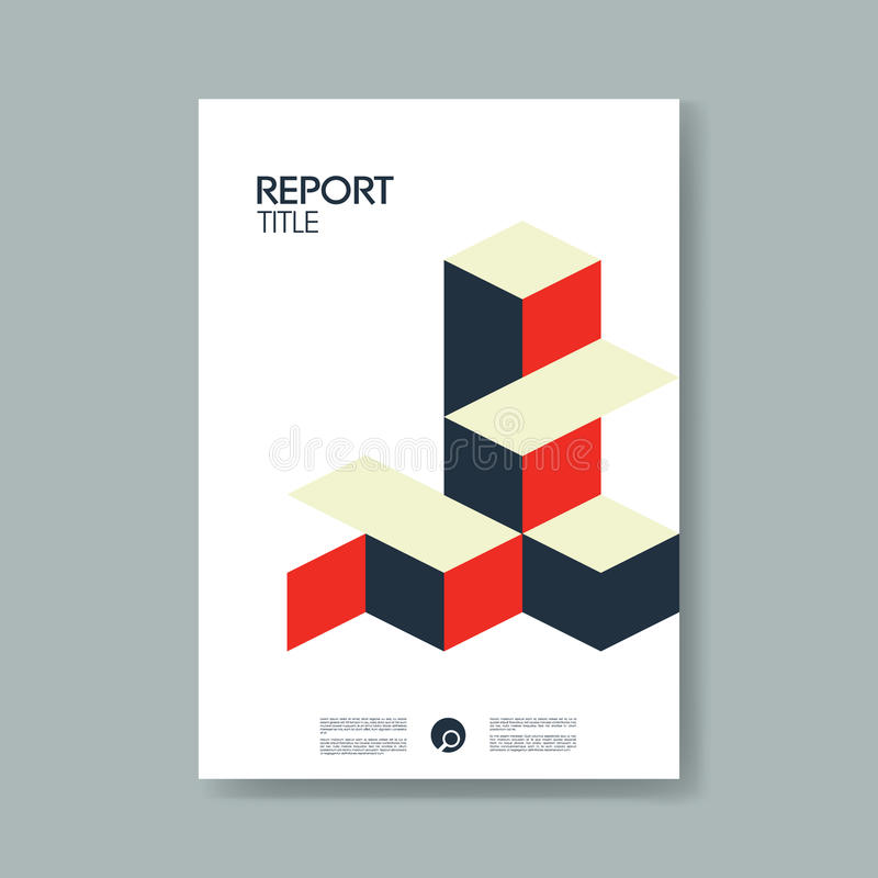 Annual Business Report Cover Template With Modern