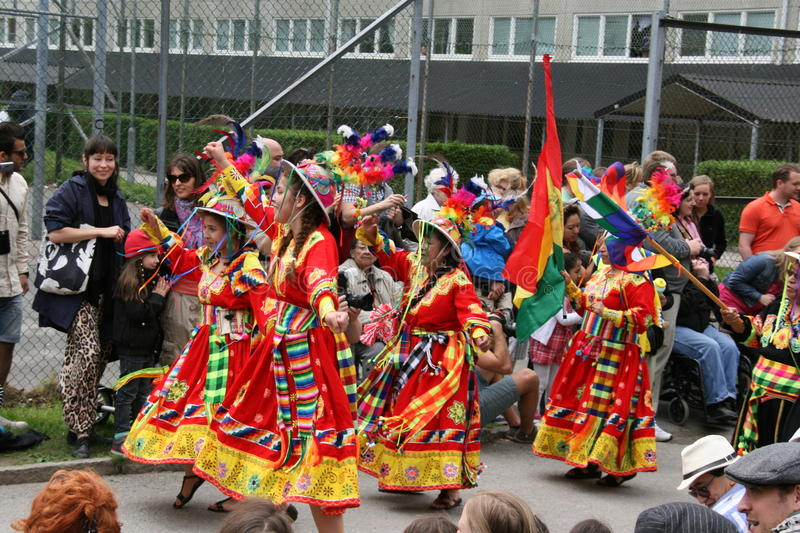 Annual cultural festival in Hammarkullen , Gothenburg, Sweden. Hammarkullen is a multicultural neighborhood, and once a year, showing all the different ethnic stock photo