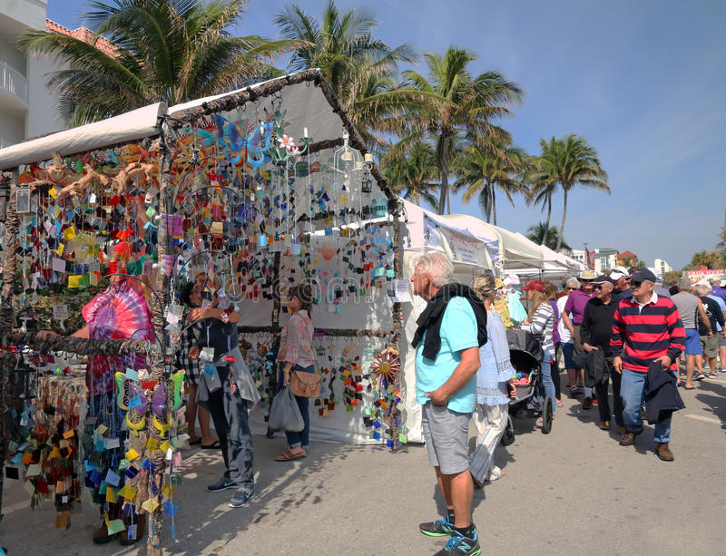 The Annual Festival of the Arts. The 37th Annual Festival of the Arts takes place on Deerfield Beach in Florida. Artists from all over United States participate stock photography