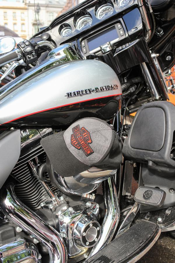 Details of large motorcycles. royalty free stock images
