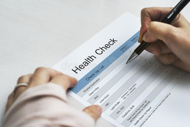 Annual Health Check Up Lifestyle royalty free stock images