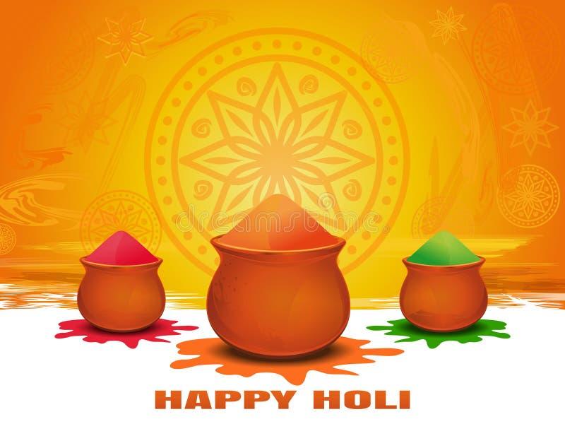 Annual Hindu festival of spring. Festival of colors. Happy Holi card. Annual Hindu festival of spring. Festival of colors. Happy Holi. Vector template for stock illustration