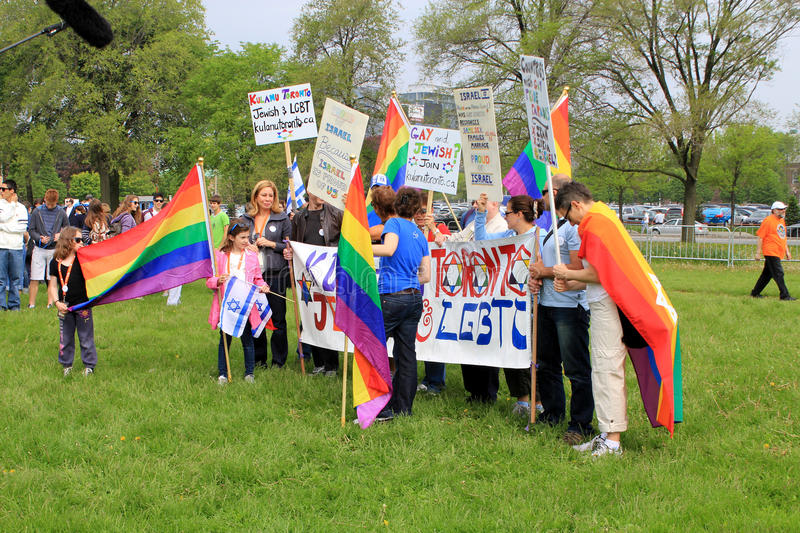 """The Annual Marsh Walk with Israel in Toronto. Sexual minority group takes part in annual marsh """"Walk with Israel"""" in May 29, 2011 in Toronto royalty free stock photo"""