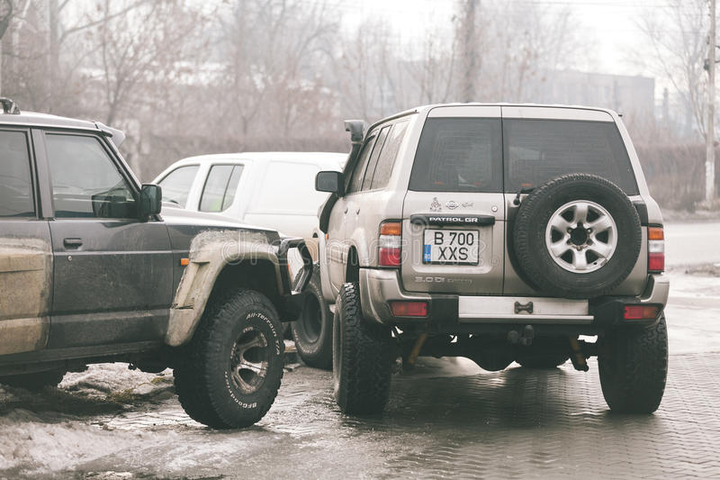 The annual meeting of owners offroad. In Romania, at Calugareni royalty free stock photos