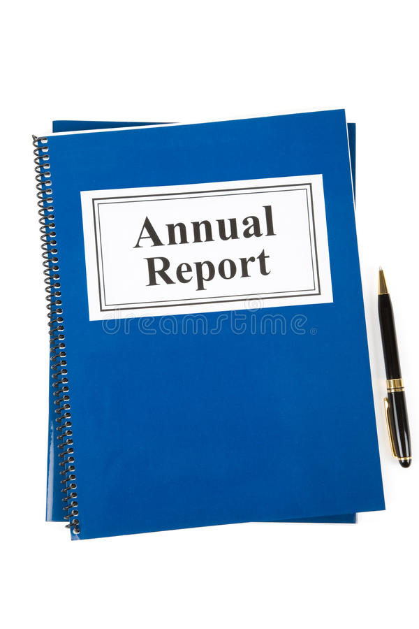 Download Annual Report stock image. Image of book, isolated, business - 10888003