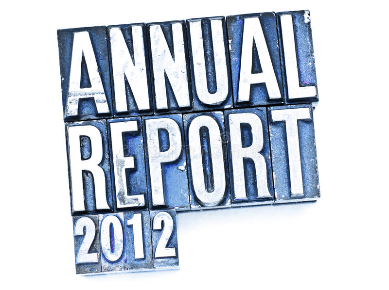 Download Annual Report stock image. Image of style, type, review - 23557301