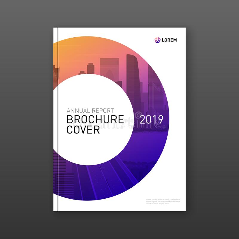 Annual report brochure cover design layout stock illustration