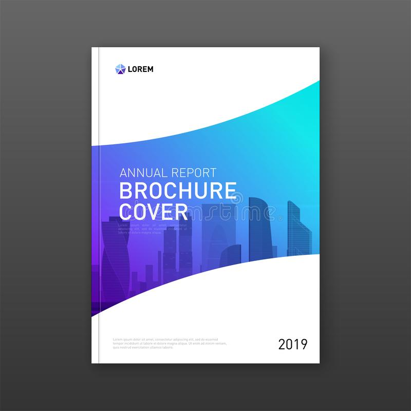 Annual report brochure cover design layout vector illustration