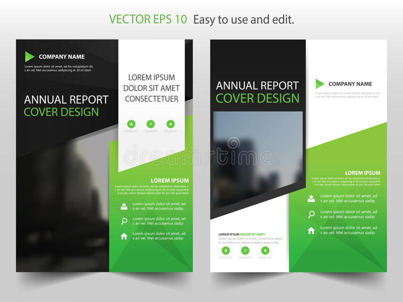 brochure insert template - annual report brochure design template vector business
